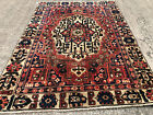 4x6 VINTAGE WOOL RUG HAND-KNOTTED oriental HANDMADE antique handwoven rust 5x6