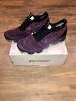 New Nike Air VaporMax Flyknit 3 Black Blue Fichsia Size 10 AJ6900-007 Men's Shoe