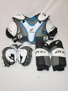 Champro LRX7 Lacrosse Pad Set Shoulder Pads Arm Pads Gloves NIB