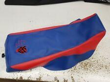 YAMAHA BANSHEE GRIPPER seat cover   EVIL DEVIL WICKED NASTY LOGO blue/red/redst