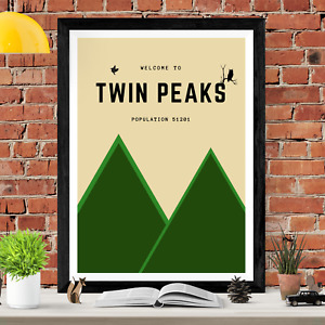 Twin Peaks TV Show Minimalist Poster Art Picture Print