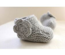 Original Knitting Pattern for Baby Snuggie Booties (0037)