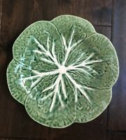Portugal Cabbage Leaf Salad Plate Majolica Reading China Vintage