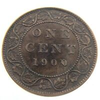 1900 No H Canada Large One 1 Cent Penny Copper Circulated Victoria Coin P961