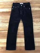 Levi's Genuinely Crafted Black Straight Leg Stretch Corduroy Bling Jeans Sz 7