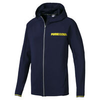 Puma Men's Slim Fit Tech Sports Full Zip Hooded Jacket Navy XXL
