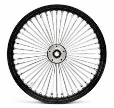 21 X 2.15 Black & Chrome Front 48 Spoke Narrow Glide Wheel Rim Sportster Dyna