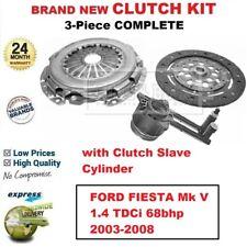 Para Ford Fiesta Mk V 1.4 TDCI 68bhp 2003-2008 Nuevo 3PC Csc Embrague Con