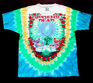 Grateful Dead Shirt T Shirt Vintage 1997 Scarlet > Fire Dragon Tea Tie Dye GD L