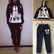 Women 2Pcs Tracksuit Hoodies Sweatshirt & Pants Sets Sport Wear Casual Gym Suits