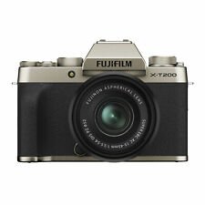 Fujifilm X-T200 Mirrorless Camera with XC 15-45mm F3.5-5.6 Lens (Champagne Gold
