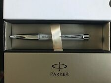 Parker Urban Fashion Silver Ballpoint Pen with Chrome Trim – Gift Box