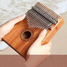17-Key Kalimba Portable Thumb Piano Mbira Acajou Bois avec Sac de Transport