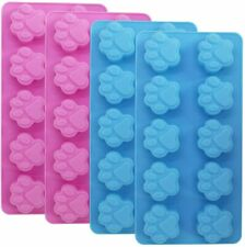 4 Food Grade Silicone Paw Print Moulds-Make Your Own Dog Biscuits,Soaps,Ice