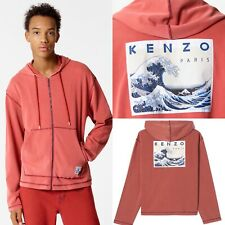 £265 Kenzo Zip Up Kanagawa Wave Sweatshirt, Kenzo Hoodie, Size L, New with tags