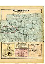 1870 Map of Washington, Ohio, with family names, from Atlas of Columbiana County