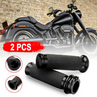 Black Handle Bar Hand grips For Harley Davidson Touring Sportster XL883 XL1200