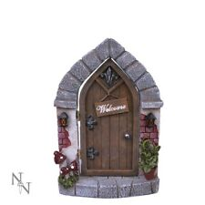 Nemesis Now Welcome Home Gothic Lodging Fairy House Garden Tree Ornament 18.5cm