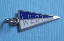 flag sterling charm Vintage enamel West pennant
