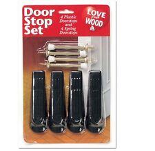 8 DOOR STOP SET STOPPER DOORSTOPPER JAM 4 PLASTIC WEDGE BLOCK 4 SPRING KC4413