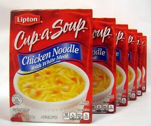 Lipton Cup A Soup Chicken Noodle With White Meat 6 Boxes 24 Servings P Shipping
