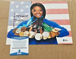 SIMONE BILES  SIGNED 2016 RIO OLYMPICS 8X10 PHOTO BECKETT CERTIFIED #8