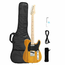 Yellow Electric Guitar for Tl Tele with Maple Fingerboard Bag 22 Frets 6 String