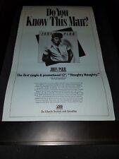 John Parr Naughty Naughty Rare Original Radio Promo Poster Ad Framed!