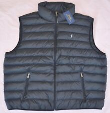 $245 New XLT XL TALL POLO RALPH LAUREN Men packable puffer down vest Black gilet