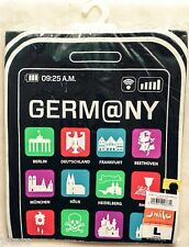 IPHONE SCREEN GERMANY TRAVEL TSHIRT SHIRT, BLACK, SIZE LARGE L, NEW NWT
