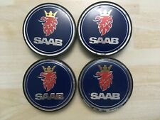 4x Saab 63mm  wheel centre caps  5236294   # JL41 / 1
