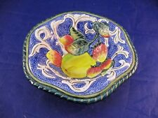 Small Fitz & Floyd Bowl - Fruit and Scroll Decoration