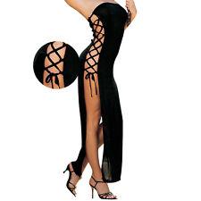 Cordón de la ropa mujeres ahueque hacia fuera vestidos Sexy