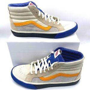 VANS Old Skool SK8-Hi Beige Sneaker Shoes Skater Leather Mens US 11.5 New