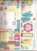 CREATIVE MEMORIES DAYS OF SUMMER Jumbo Title Stickers x 3 Sayings Titles Words