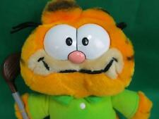 VINTAGE GARFIELD GOLF CLUB DRIVER FORE GREEN SHIRT  DAKIN 1981 CARTOON PLUSH TOY