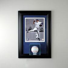 New Glass Baseball Display Case w/ 8x10 Frame in Team Colors UV MLB FREE SHIP