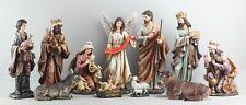 Family Christmas Nativity Ornate Scene 8 Inch 11-Piece Set