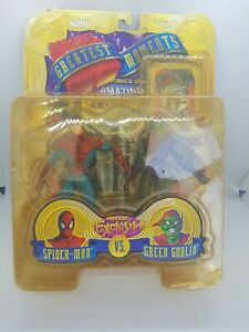 Rare Marvel Greatest Moments Spiderman Vs Green Goblin 2000 Exclusive Toy Biz