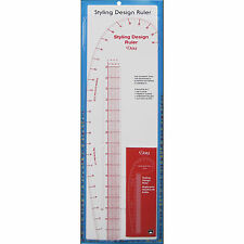 Collins 4-In-1 Styling Design Ruler - Hip Curve, French Curve & Straight #C832