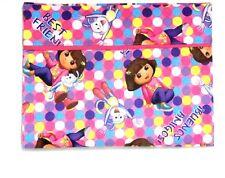 Dora Toddler Pillowcase on Pink Cotton #D23 New Handmade