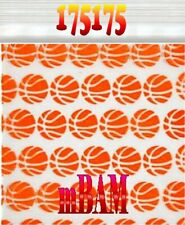 100 PACK 175175 BASKETBALLS SLAM DUNK APPLE ZIPLOCK Baggies 1.75X1.75""