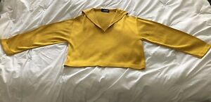 VINTAGE Jean Paul Gaultier for Equator Gold Yellow Sweater Italy FUZZI Size 48