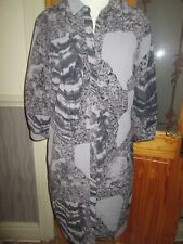 next ladies shirt button up dress size 12 eur 40 brand new with tags black grey