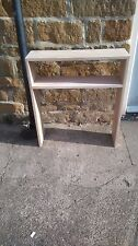 H80 W70 D20cm BESPOKE UNTREATED OAK CONSOLE HALL TELEPHONE BEDROOM TABLE