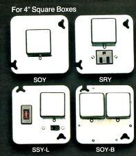 """BUSSMANN Box Cover Unit SRY for Plug Fuses 4"""" Square 15A 125V NOS NEW"""
