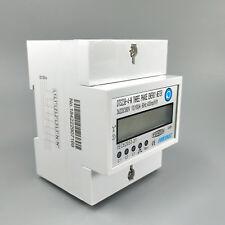 4P 10(100)A 3*220V/380V 60HZ 3 phase Din rail KWH Watt hour energy meter LCD