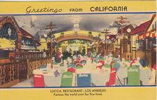 Lucca Restaurant, Los Angeles,  CA, Linen  Postcard