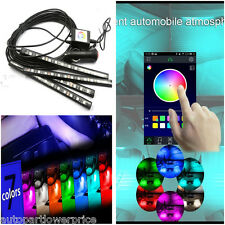 4×12LED Colorful Light App Music Control Atmosphere Decoration Neon Light Strip