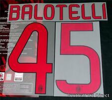 AC Milan Balotelli 45 2013/14 Football Shirt Name/Number Set Kit Away